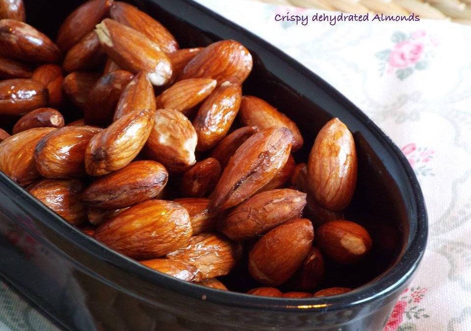 Snack ideas; crispy almonds